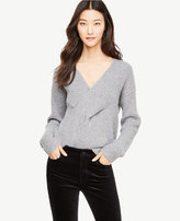 Ann Taylor V-Neck Cable Braid Sweater