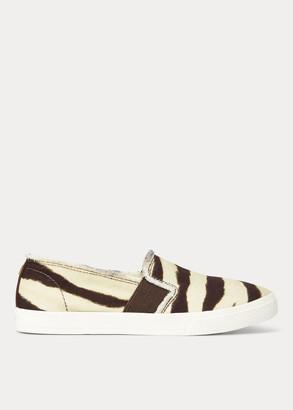 Ralph Lauren Jinny Zebra Slip-On Sneaker