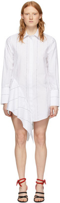 Off-White White Popeline Asymmetrical Dress