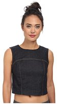 7 For All Mankind Women's Denim Sleeveless Back Zip Top (Small