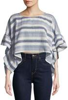 BCBGeneration Striped Rectangle Crop Top