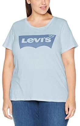 Levi's Plus Size Ladies Pl Perfect Tee T-Shirt, Gray (Plus Housemark Smokestack Htr 0017), (Manufacturer Size: 3X)