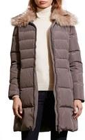 Lauren Ralph Lauren Women's Quilted Faux Fur Collar Coat