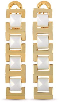 Versace 18K & Ceramic Peridot Earrings