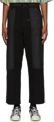 Nicholas Daley Black Pullcord Trousers