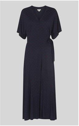 Whistles Spot Wrap Jersey Dress