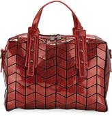 Patrizia Luca Metallic Geometric Tile Bowling Bag