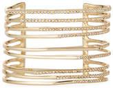 Alexis Bittar Multi-Row Golden Crystal Origami Cuff Bracelet
