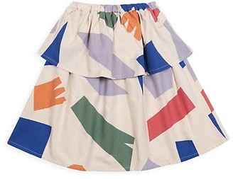 Bobo Choses Little Girl's & Girl's Shadows Woven Flared Skirt