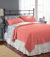 L.L. Bean Diamond Stitch Matelass Coverlet