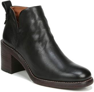 Franco Sarto Zipper Leather Block Heel Booties- Klora