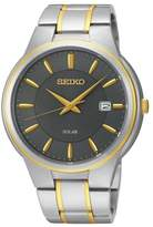 Seiko Men's Two-Tone Solar Watch, 41.5mm