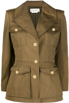 Alexander McQueen Fitted Military Jacket