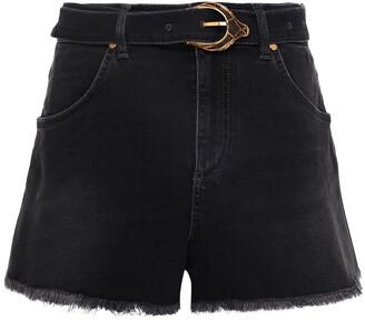 Roberto Cavalli Belted Denim Shorts