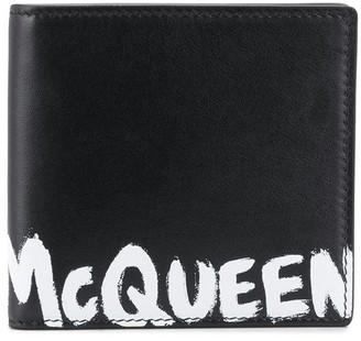 Alexander McQueen Grafitti bi-fold wallet