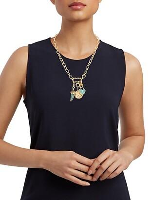 Gas Bijoux 24K Goldplated & Enamel Charm Necklace