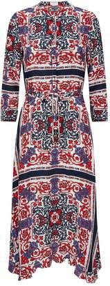 Claudie Pierlot Scarf Print Shirt Dress