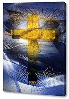 "Menaul Fine Art ""Lord's Prayer"" Limited Edition Artwork, 16 x 24"", Gold/Blue/White/Black"