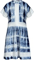 Naftul Tie Dye Summer Eyelet Trim Midi Dress.
