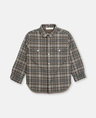 Stella McCartney Cotton Check Shirt, Men's