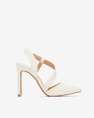 Express Asymmetrical Strappy Closed Toe Pumps