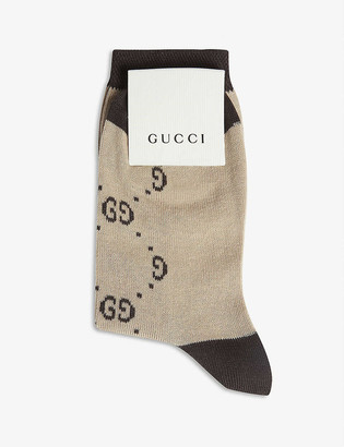Gucci GG monogram cotton-blend socks 6-12 years
