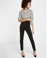 Express Slim Fit Lace Print Portofino Shirt
