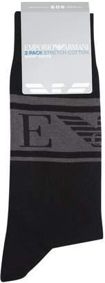 Giorgio Armani Ea7 Initial Eagle Logo Socks (Pack of 2)