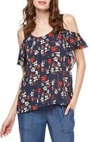 Sanctuary Women's Lenox Cold Shoulder Floral Top