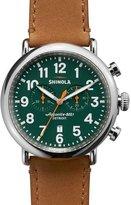 Shinola 47mm Runwell Chronograph Men's Watch, Green/Tan