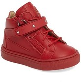 Giuseppe Zanotti Infant Girl's Taylor Junior High Top Sneaker