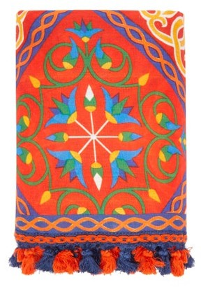 Carolina Herrera Cabana Magazine - X 160cm X 200cm Tablecloth - Red Print