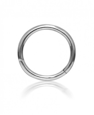 Maria Tash 8mm Plain Single Hoop Earring - White Gold