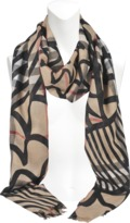 Burberry Printed Patchwork scarf