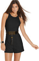 XOXO Juniors Romper, Sleeveless Belted