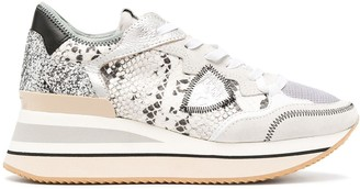 Philippe Model Paris Triomphe St. python print sneakers