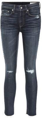 Rag & Bone Distressed high-waisted skinny jeans