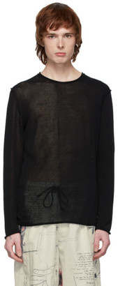 Isabel Benenato Black Knit Sweater