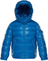 Moncler New Maya Quilted Hooded Nylon Puffer Jacket, Size 4-6