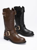 Victoria's Secret Collection Double-buckle Moto Boot