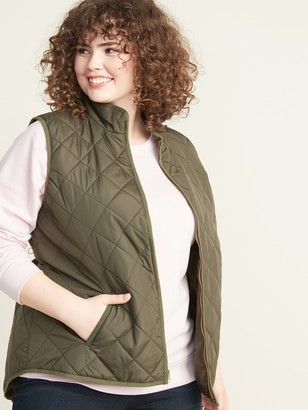 Old Navy Lightweight Diamond-Quilted Plus-Size Zip Vest