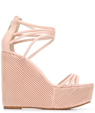 Le Silla 90mm Platform Wedge Sandals
