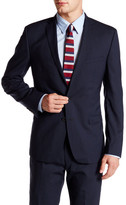 Ben Sherman Navy Fine Stripe Wool Two Button Tailored Fit Notch Lapel Jacket
