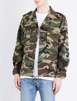 Saint Laurent Camouflage embroidered cotton jacket