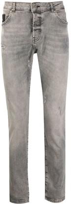 John Richmond Amsack distressed detail denim jeans