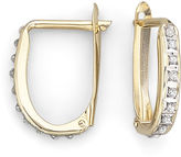 JCPenney FINE JEWELRY Diamond Fascination 14K Yellow Gold Oval Hoop Earrings