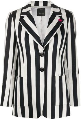 Pinko Single Breasted Striped Blazer