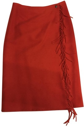 Etro Red Cashmere Skirt for Women