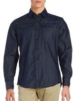 G Star Dark Denim Button-Down Shirt