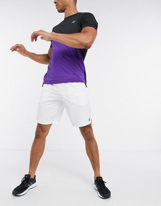New Balance Tennis rally 9 inch shorts in white